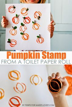 Pumpkin Stamp from a toilet paper roll.  Mom or kids craft!