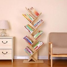 Every apartment needs a wooden tree bookcase. Now, you can create your own, unique and fantastic design. Very impressive manner to change style in home.