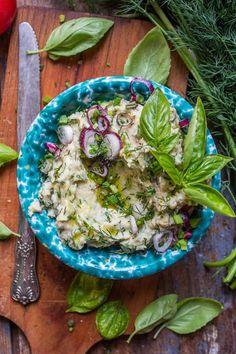 PASTA ZIOŁOWA Z BIAŁEJ FASOLI | Wegan Nerd - wegańskie gotowanie Serving Bowls, Food To Make, Nom Nom, Nerd, Vegan, Breakfast, Tableware, Kitchen, Recipes
