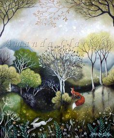 Garden at Dawn - Amanda Clark- art gallery, original paintings