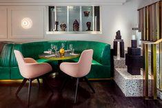 El estilo se creó con base en una colección ecléctica de diseño y color.