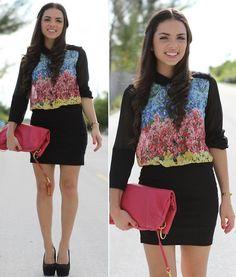Sheer and floral (by Daniela Ramirez) http://lookbook.nu/look/3524383-Sheer-and-floral