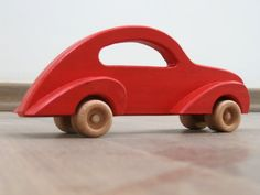 Stylish Toy Car Made of Wood by TrickTruck at Etsy.
