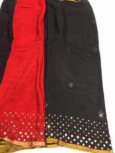 74846d6a7f Mirror Work Saree, Work Sarees, Indian Wear, Blouse Designs, Mirrors, Mini