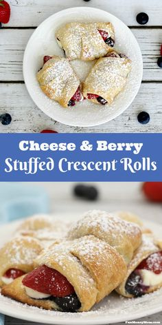 Making something special for breakfast doesn't have to take all morning. With just four main ingredients, these Cheese & Berry Stuffed Crescent Rolls are just as easy as they are delicious.