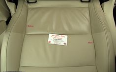 Skoda leather seats, a before and after showing the difference between clean and dirty leather.