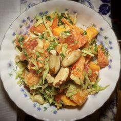 Quick & Easy Beautifying Papaya Salad #WHOLE30 #Vegan #Paleo #Raw #AIP #justeatingrealfood See more at: dailybeautywisdom.com Whole30 Recipes, Real Food Recipes, Potato Salad, Paleo, Vegan, Cooking, Healthy, Ethnic Recipes, Easy