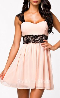 Radiant Lace Embellished Skater Dress - Stella La Moda