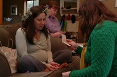 A Mother Blessing is a modern, Western ceremony focused on the transition into motherhood and on supporting and preparing the mother for childbirth. Doula, Hippie Baby, Supportive Friends, Baby Blessing, Natural Birth, Midwifery, Baby Birth, Baby Wearing, Breastfeeding