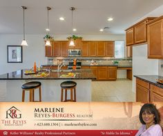 """Magnificent Two-Story Home Surprise, AZ Gourmet Kitchen With Stainless Steel Appliances, 42"""" Upgraded Cabinets, Center Island And Breakfast Bar, Granite Countertops, And Colorful Glass Tile Backsplash! The Kitchen Opens Up To A Large Great Room With A Private Full Bath and Mud Room. Upstairs Has 3 Guest Quarters With Walk-In Closets, Jack and Jill Bath, Guest Bath, And A Spacious Family Room that Separates the Guest Quarters and the Master Bedroom Suite…"""
