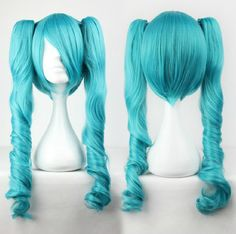Wig Detail Vocaloid Hatsune Miku Curl Wig Includes: Wig, Hair Net Length - 65CM Important Information: Fitting - Maximum circumference of 55-60CM Material - Heat Resistant Fiber Style - Comes pre-styl