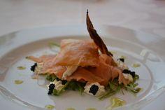 Mil folhas de salmão com maionese de ovas pretas - Ambientes Perfeitos
