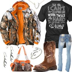 Country girl look Prove You Wrong Legendary Whitetails Camo Jacket Outfit - Real Country Ladies Bra Camo Outfits, Cowgirl Outfits, Western Outfits, Fashion Outfits, Cowgirl Clothing, Cowgirl Fashion, Camo Fashion, Fashion Ideas, Women's Fashion