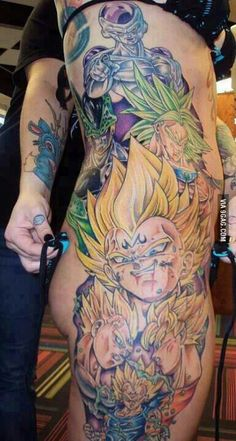 Dragonball Z tattoo. I love this woman because of these tattoos!!!