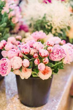 Bucket of blooms