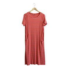 Crimson Moon Stripe Dress | ROOLEE