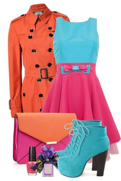 """""""Pink and turquoise Dress"""" by ciaaalicia ❤ liked on Polyvore"""