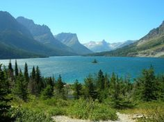Glacier National Park -- complete with the worlds' cutest little island.