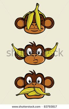 See no evil, Hear no evil, Speak no evil. by ColinCramm, via Shutterstock