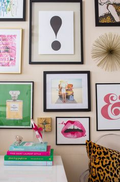 Introducing…Kate Spade Gallery Wall Prints for Sale! my green Chanel print in a gallery wall designed by Brighton Keller for Kate Spade