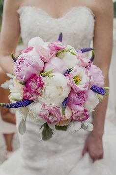 Pink and Purple seem to be the colors of the day! See the beautiful wedding on SMP - http://www.StyleMePretty.com/canada-weddings/ontario/2014/01/03/classic-cambridge-mill-wedding/ Alyssa Alkema Photography