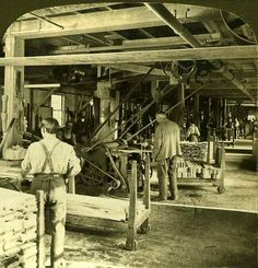 MAKING STEREOSCOPES -- Main Wood-Working Room of the Stereoscope Department, via Flickr.