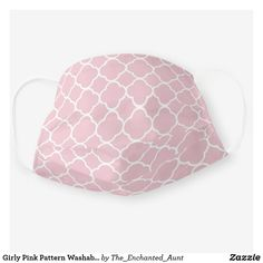 Shop Girly Pink Quatrefoil Washable Social Distancing Cloth Face Mask created by The_Enchanted_Aunt. Pink Abstract, Abstract Pattern, Niece And Nephew, Pink Patterns, Quatrefoil, Personalized T Shirts, Cute Pink, Wearable Art, Snug Fit