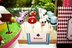Wonderland Cake Pops!!!! LOVE! {image via Amy Atlas}