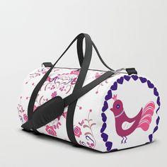 Hungarian folk art Duffle Bag by sboar_a Bags Game, Duffle Bags, Brushed Nickel, Travel Bags, Gifts For Him, Folk Art, Print Design, Shoulder Strap, Backpacks