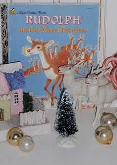 Vintage Rudolph the Red-Nosed Reindeer Golden book by eg2006, via Flickr - oh my - the memories