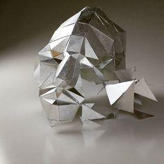 Shattered 😣 . . . . . . .  #sculpture #face #geometric #geometrichuman #triangular #angular #metalic #stress #braking #shatter #breaking point #art #artist #sculpture #finearts #finalsweek #impliedmotion #3dart #3ddesign Gcse 2017, 3d Design, Angles, Stress, Sculpture, Fine Art, Photo And Video, Metal, Face
