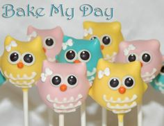 Owl Cake Pops from Bake My Day :-)