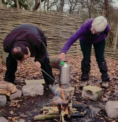 """""""Over 55s Adult Explorers group brewing up using our #KellyKettle at our #Bushcraft Camp in Milton Keynes, U.K.""""  Pic. courtesy of June Gaynor  --  Enter your pics via www.kellykettle.com & www.kellykettleusa.com   --  #Giveaway #WhereDoYouUseYours #Nature #Outdoors #OffGrid"""