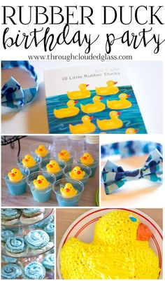 Last weekend my baby turned ONE year old! We threw a little party for him on Sunday, just for close family and friends. Rubber Duck Birthday, Rubber Ducky Party, Rubber Ducky Baby Shower, Baby First Birthday, Boy Birthday Parties, Birthday Fun, Birthday Ideas, Kid Parties, Duck Cake