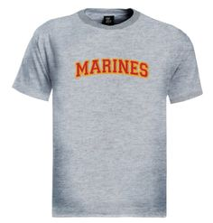 Marine Logo Embroidered patch T-Shirt Brand new 100% cotton standard weight t-shirt as shown in the picture. Express yourself through our t-shirts and make a statement. Add this item to your shopping cart by choosing the size and color you like.
