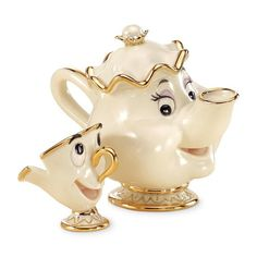 Lenox Mrs Potts and Chip Beauty and The Beast Disney Figurine New in Box | eBay