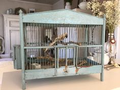 Vintage Deko - Uralter Vogelkäfig, Shabby - ein Designerstück von Maison-de-Brocante bei DaWanda