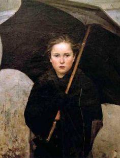 The Umbrella by Marie Bashkirtseff (1858 – 1884, Ukrainian)
