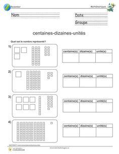 Exercice centaines-dizaines-unités 2 | Unité dizaine centaine, Dizaines et unités et Mathématiques
