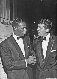 Nat King Cole with Dean Martin  by Murray Garrett