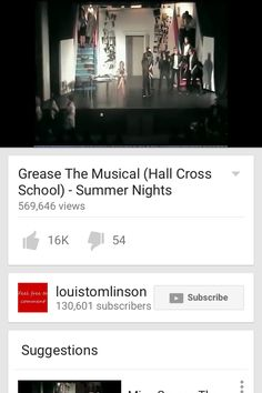 THIS IS LOUIS HIGH SCHOOL GREASE PLAY THE USERNAME IS LOUISTOMLINSON07