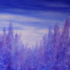This painting was inspired by lavender fields in the South of France. The colour, the texture, and the scent of lavender encapsulate for many the essence of Provence and the South of France by Kirstin McCoy