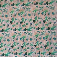 Watercolour birds - I love the print on this canvas. It is so beautiful for bags and craft projects.