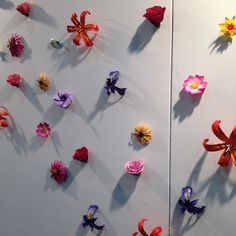 Beautiful 3D printed flower wall art by 3D printing artist Darlene Farris-Labar. #3DP - not just for small plastic things!  #3Dart #STEAMnotSTEM #3Dprinting by hazzdesign