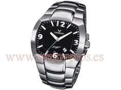 Clock Viceroy Man. Stainless steel bracelet. Top Atornillada. Sphere Square color Black. Machinery Quartz. Seconds. Calendar. Submersible 100 M.  REFERENCIA: 432019-55  Fabricante: Viceroy