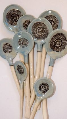 These initially were intended to be created as Tea Spoons, but they ended up in various lengths and Spoon sizes. Each were hand built, stamped,