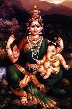 Parvathi and ganesha Ganesh Lord, Shri Ganesh, Ganesha Art, Lord Krishna, Baby Ganesha, Ganesh Statue, Jai Hanuman, Baby Krishna, Shiva Parvati Images
