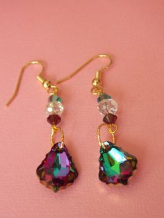 Swarovski baroque crystal earrings available now in my Etsy shop!