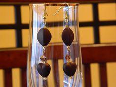 Chocolate Love long dangle earrings by gr8byz on Etsy, $8.00