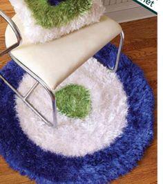 Fabulous Felted Shag Rug Crochet Pattern ---via JoAnn